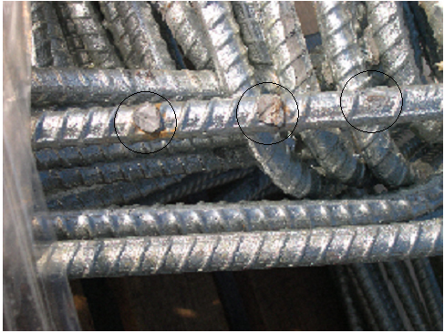 Galvanized rebar coating can be subject to disbonding particularly in the area of bends